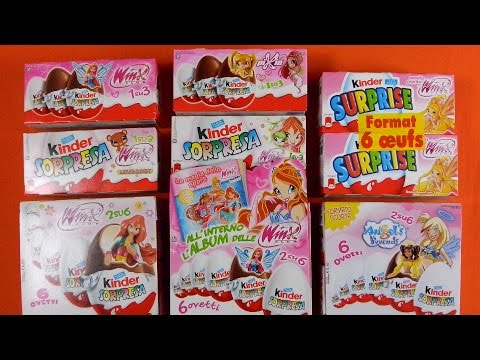 WINX Club KINDER SURPRISE EGGS [Mega Unboxing]