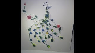 Peacock - Paper Quilling  Design Tutorial