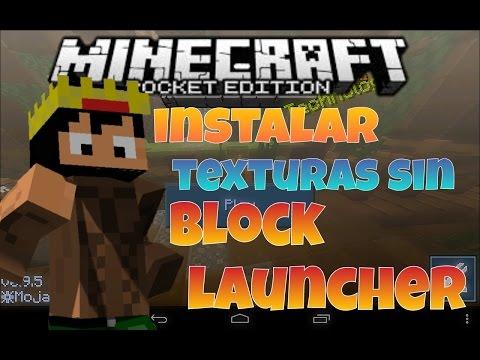 Como instalar texturas sin block launcher • minecraft PE 0.12.1