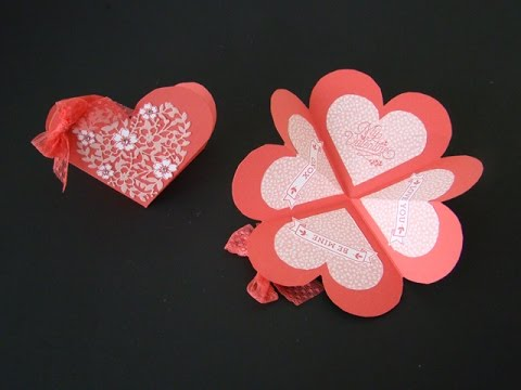 Heart Shaped Fancy Fold Card - YouTube