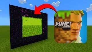 How To Make A Portal To The Minecraft vs Fortnite Dimension in Minecraft!