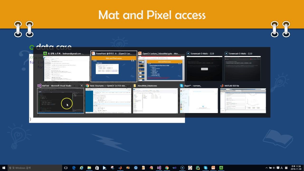 인프런 - OpenCV 강좌 - 컴퓨터 비전   Pixel access using data