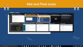 OpenCV Lecture - 2. AboutMat (4/9) : pixel access using data, at operator