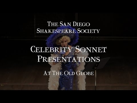 Celebrity Shakespeare Sonnets at the Old Globe 2014 - San Diego Shakespeare Society