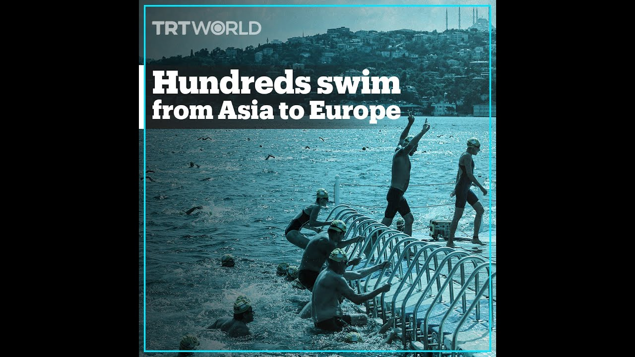 Hundreds swim from Asia to Europe in Istanbul
