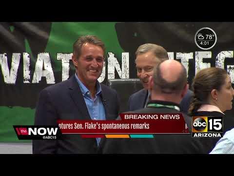 ABC15 caught audio from Senator Flake