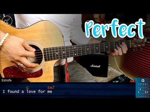 Como tocar Perfect en Guitarra SUPER FACIL   Principiantes Christianvib