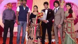 Vishal,Sarath Kumar At Actor Bharath Sister Wedding Reception