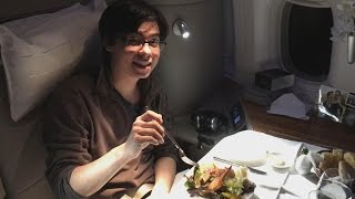 first class cathay pacific boston to hong kong review boeing 777