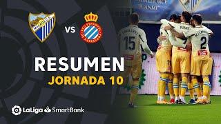 Resumen de Málaga CF vs RCD Espanyol (0-3)