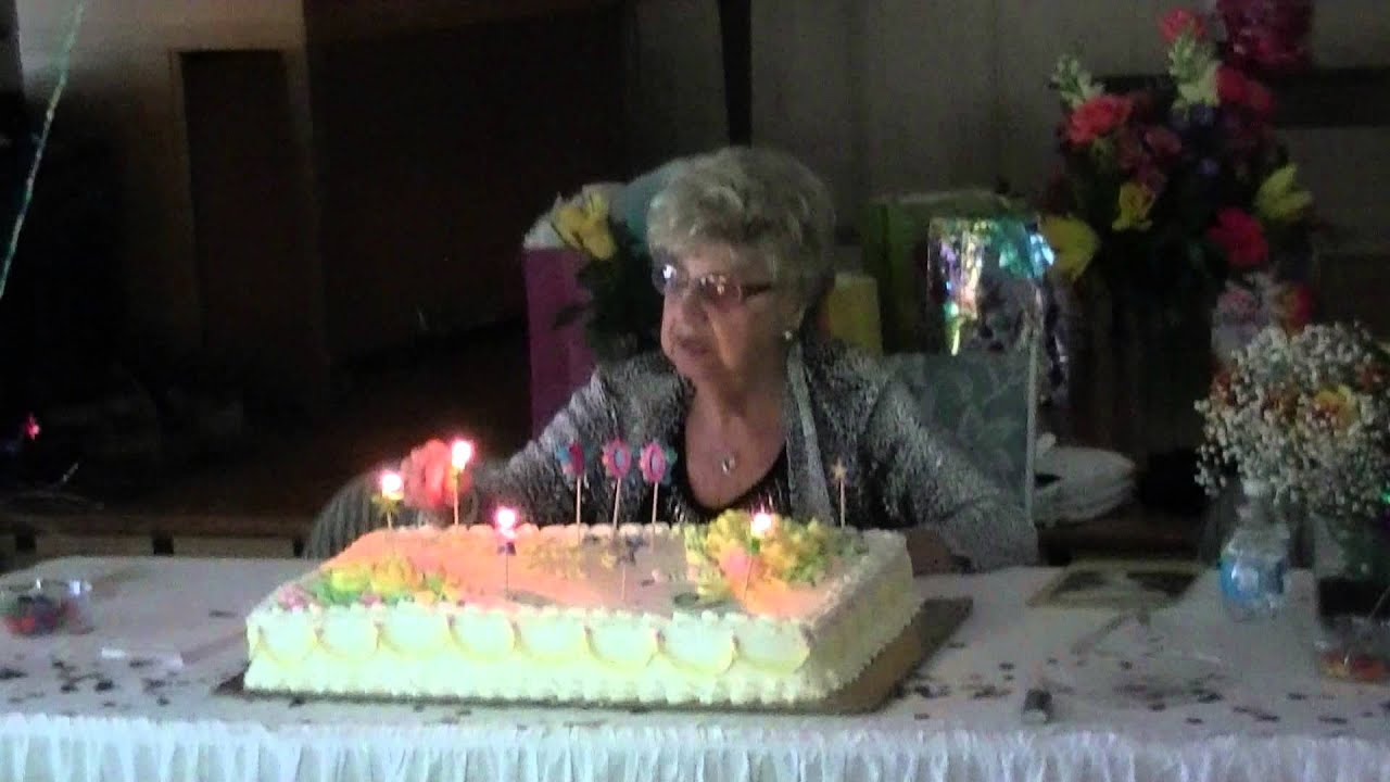 Moms 100th Birthday Cake Youtube