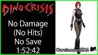 Dino Crisis Walkthrough NO DAMAGE NO SAVES Best Ending (1:52:42)