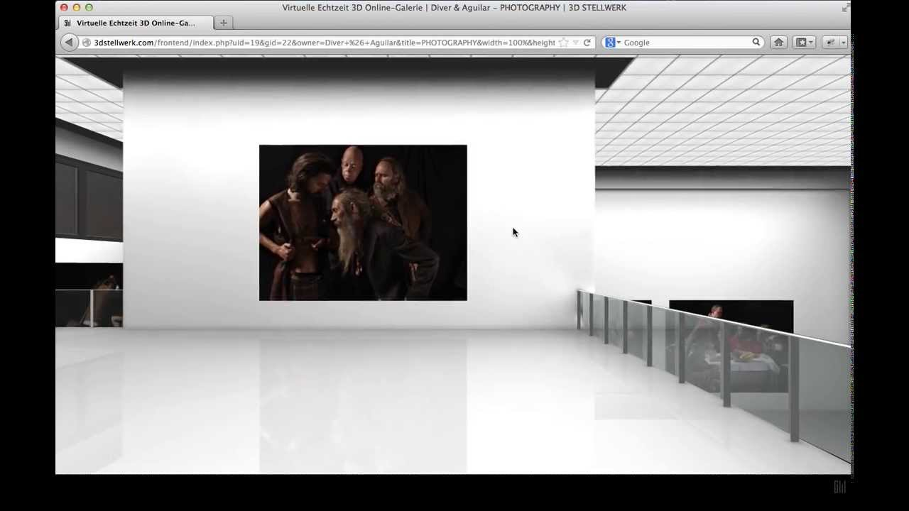 Virtual 3D Photo Gallery by MIKE DIVER - LONDON - YouTube