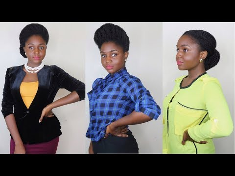 Natural Hair is not professional?? Officework appropriate styles on 4c hair  Part 1