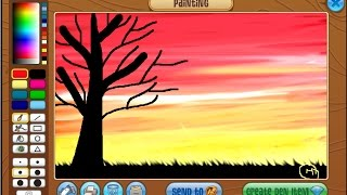 Animal Jam: How to draw a Sunset MASTERPIECE!