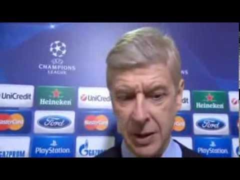 Arsene Wenger Post Match Interview Bayern 1 - 1 Arsenal