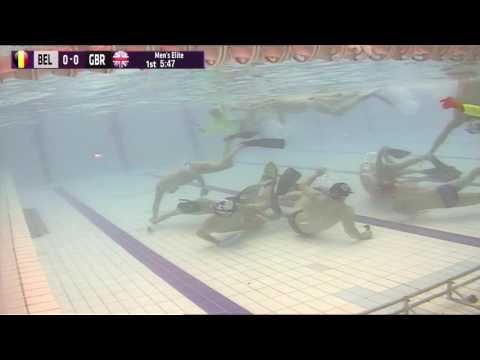Underwater Hockey Worlds Stellenbosch 2016 men elite: Belgium - Great Britain