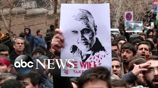 Funeral processions held in Iran for general Soleimani | ABC News