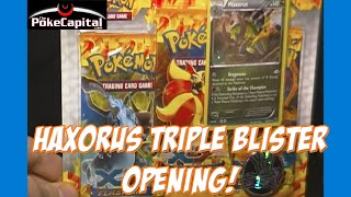 pokemon xy flashfire 3 pack blister pack with haxorus holo sick pull