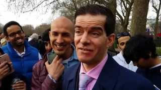Muslims Attacked Homeless Preacher - Speakers Corner Hyde Park London 5-4-15. (1)