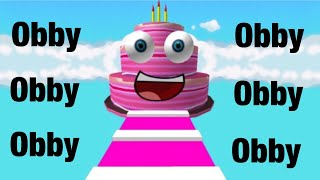 Cake Obby ROBLOX (I BEAT IT WITHOUT DYING)