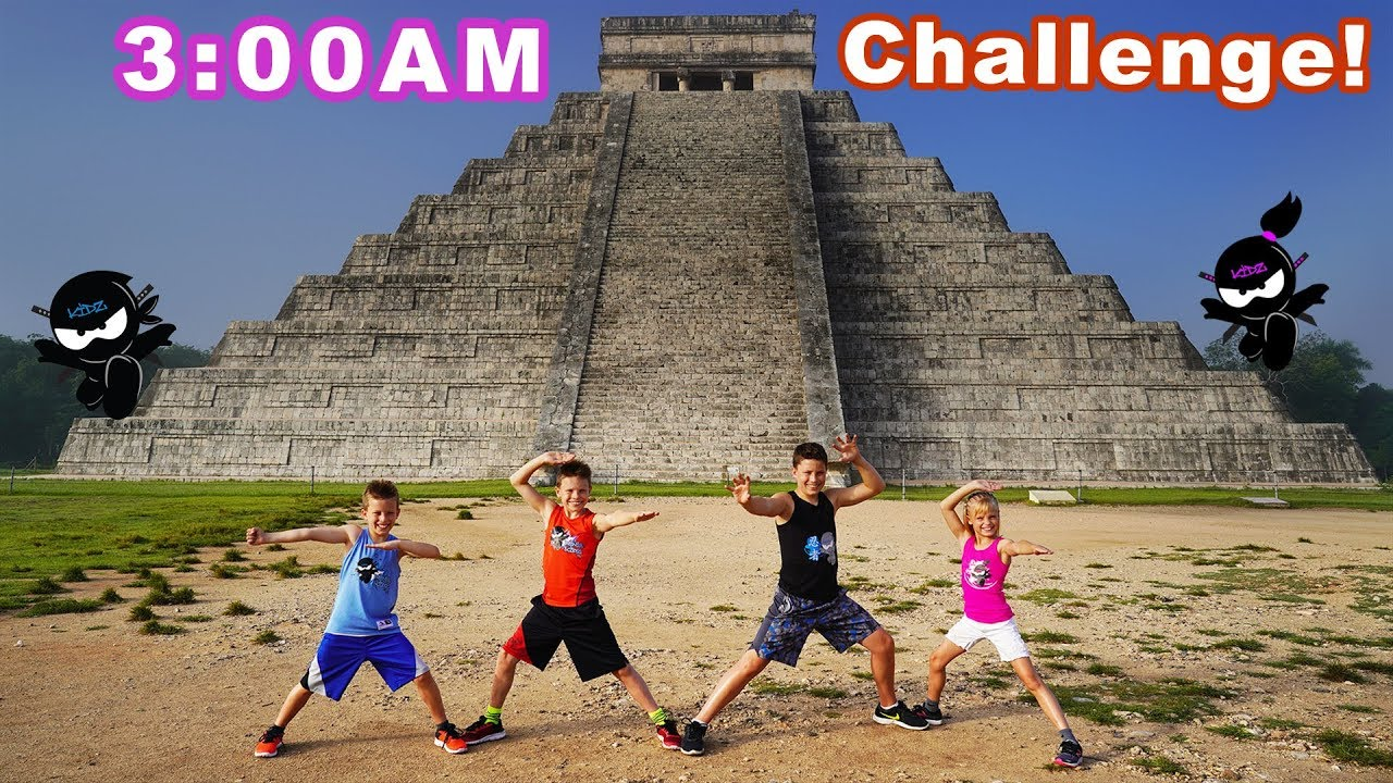 Download Exploring Mayan Pyramid in Mexico! 3AM Challenge!