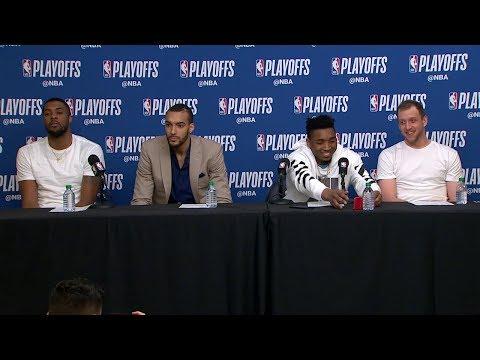 Utah Jazz Postgame Interview | Thunder vs Jazz - Game 6 | April 27, 2018 | 2018 NBA Playoffs