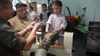 Выставка электроинструмента Урок токарной обработки на стенде JET