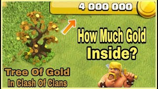 """What's Inside """"TREE OF GOLD""""! How Much Gold Will I Get Inside It?   Clash Of Clans HINDI"""