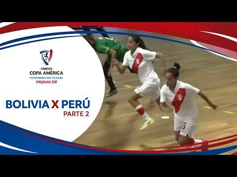 BOLIVIA X PERÚ I PARTE 2 I 13/12/2019 I CONMEBOL Copa América De Futsal Femenino 2019