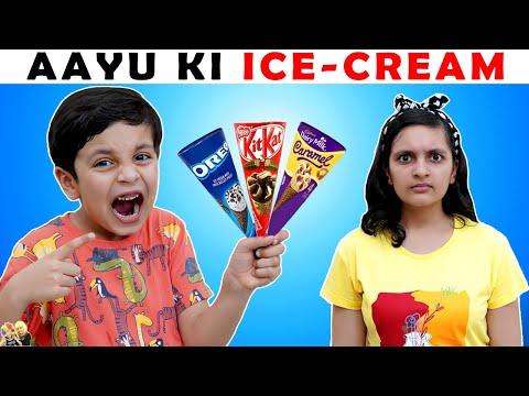 aayu-ki-ice-cream- -moral-story-for-kids- -funny-hindi-stories- -aayu-and-pihu-show