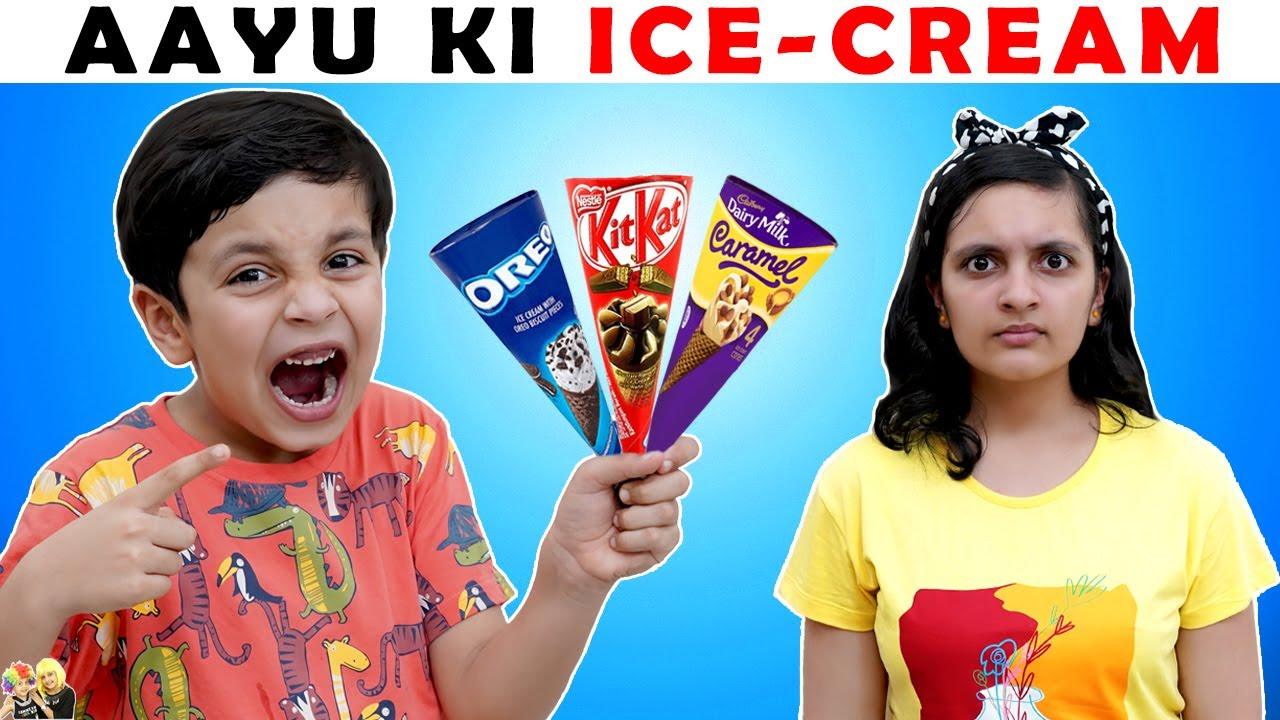 AAYU KI ICE CREAM   Moral Story for kids   Funny Hindi Stories   Aayu and Pihu Show