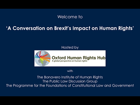 A Conversation on Brexit's Impact on Human Rights