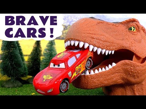 Brave Disney Cars Toys McQueen Toy Stories with Trucks Giant Dinosaur Superhero Batman and Hulk TT4U
