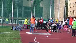 Бугакова Алена летний Чемпионат Москвы 2018 толкание ядра 17:34