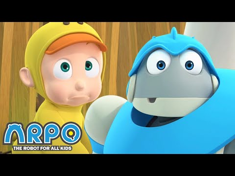 Arpo the Robot | Baby Duck | COMPILATION | Best Moments | Funny Cartoons for Kids