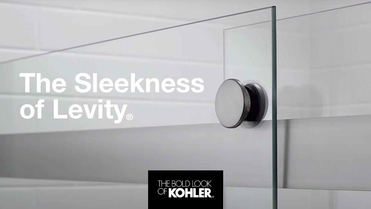 sleek and smooth levity shower doors kohler