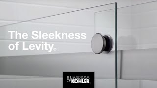 Sleek and smooth, Levity shower doors