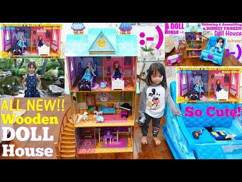 A Beautiful Wooden Dollhouse! Kidkraft Disney Frozen Arendelle Palace Dollhouse Toy. Toy Channel
