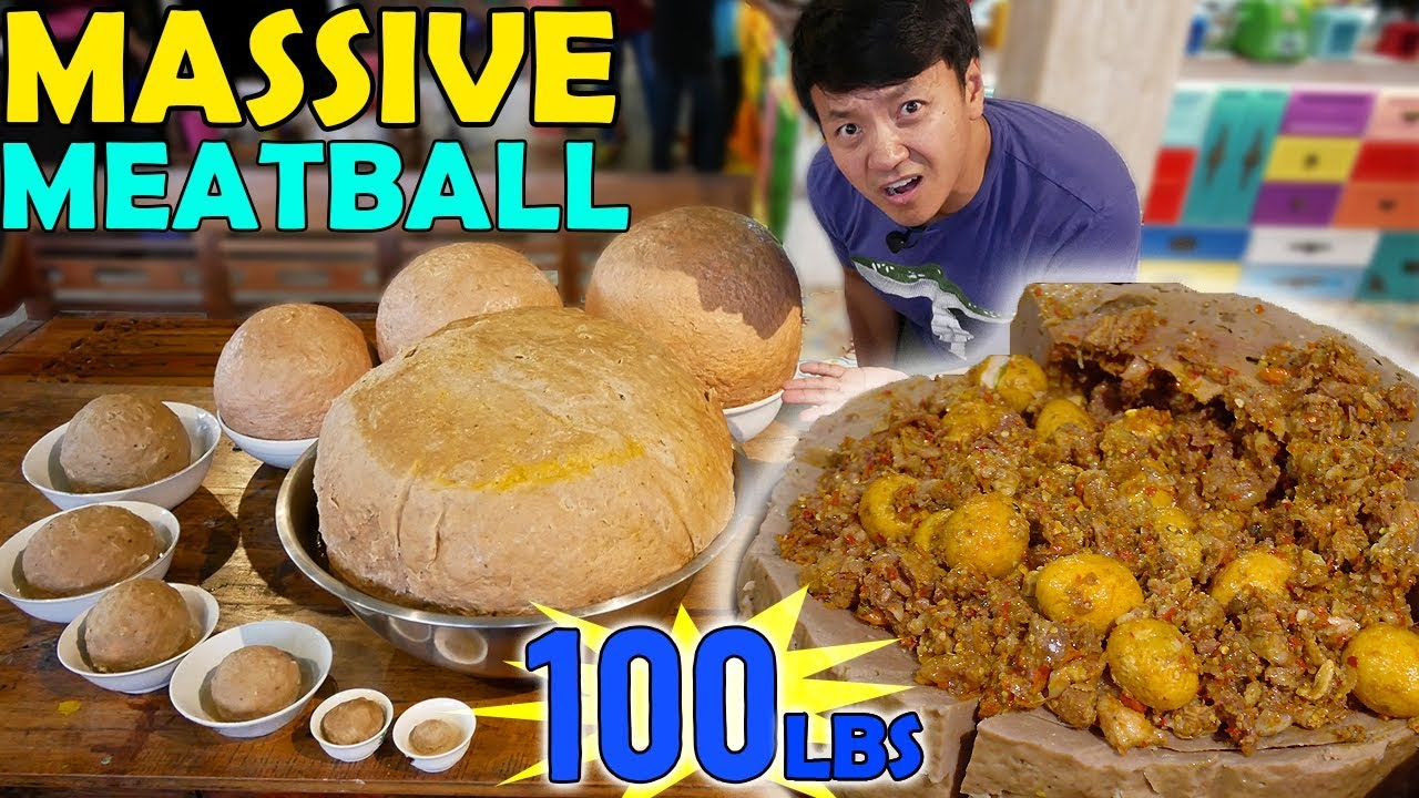 massive-100-pound-meatball-food-challenge-in-indonesia