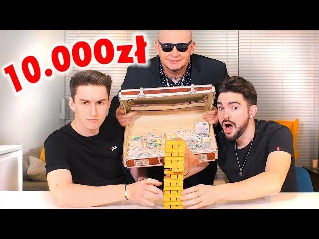 GRALIŚMY W JENGA O 10,000zł! *źle się skończyło*