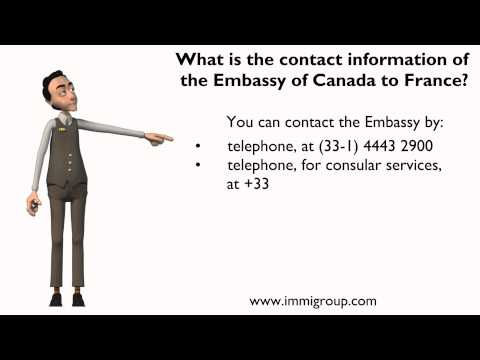 What is the contact information of the Embassy of Canada to France?