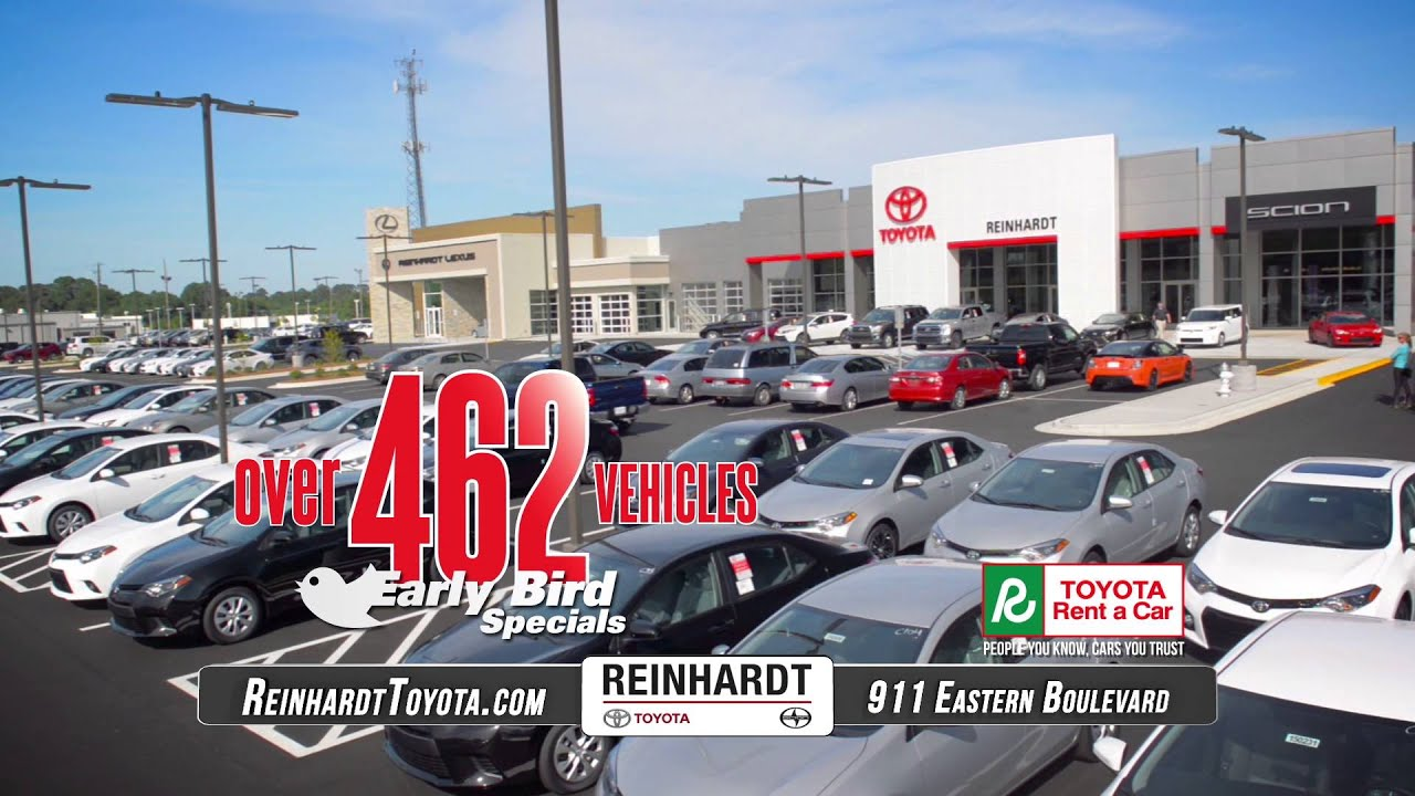 Reinhardt Toyota   Montgomery, AL   Early Bird Specials   YouTube