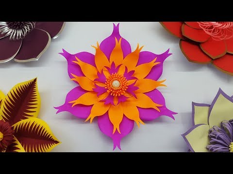 Easy Paper Flower Backdrop Tutorial with Free Template | Paper Craft