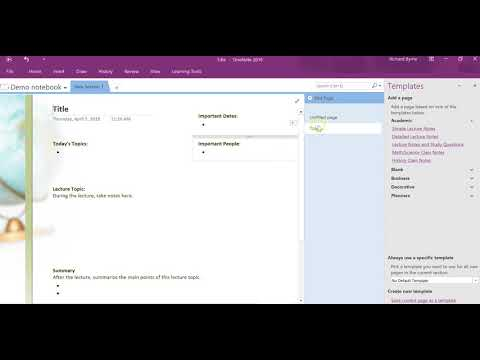 How to find and make OneNote templates