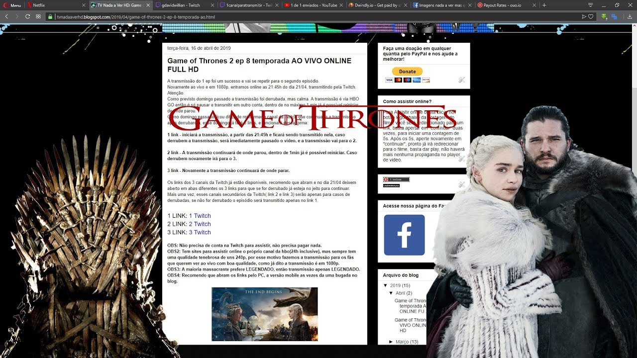 Game of thrones vai passar ao vivo no hbo go