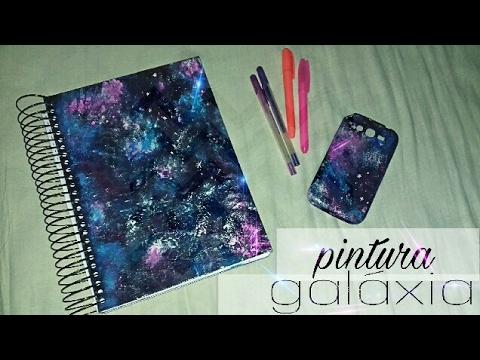 Caderno Tumblr Galaxia Diy Youtube