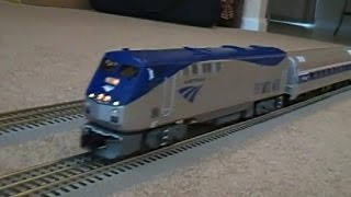 MTH Railking CSX SD70ACe trainset and MTH Amtrak Premier Genesis with Amfleets