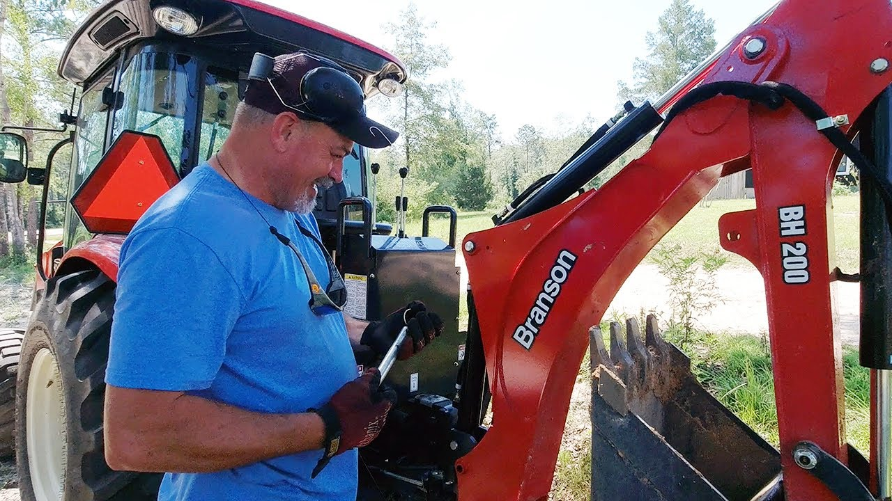 Drainage System Installation with a Branson Tractor & Backhoe! It Probably Won't Work!