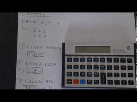 HP-12C (Platinum): Standard Deviation and Mean
